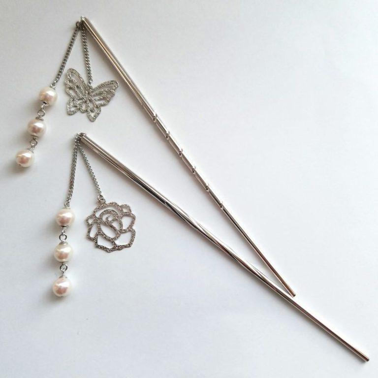 「和珠」国産アコヤ真珠が揺れるかんざし